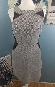 Banana Republic Black and Gray Dress Size 8